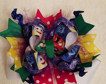 Inside Out Stacked Boutique Hairbow - Disney's Inside Out