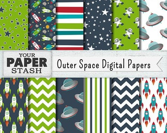 Outer space digital clip art astronaut clip art planets and for Outer space paper