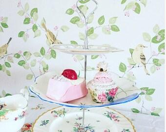 Three Tier Cake Stand, Vintage Three Tier Cake Stand, Kitchenalia, Tea Party, Vintage Kitchen.