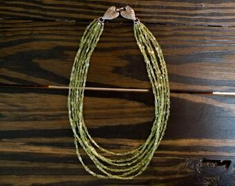 Multi-Strand Peridot Necklace