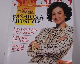 Sew News Magazine Back Issue October 1992 Vintage