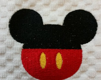Embroidered Mickey Mouse Icon Towel - Mickey Mouse Decor - Disney Golf Towel - Mickey Mouse Kitchen - Disney Kitchen - Disney Bathroom