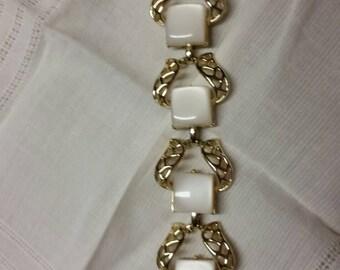 Coro signed bracelet opalescent lucite