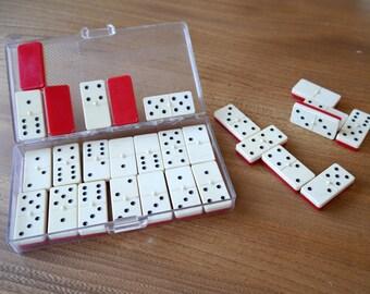 Set of Gibbs travel dominoes, game, board game,vintage dominoes