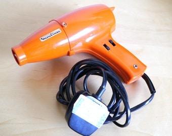 1970's, orange Moulinex hairdryer