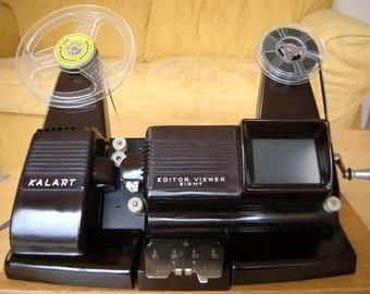 Vintage Bakelite Kalart 8mm Movie Film Viewer, Editor, Film Splicer,1950's, in Original Vintage box and manual 240v