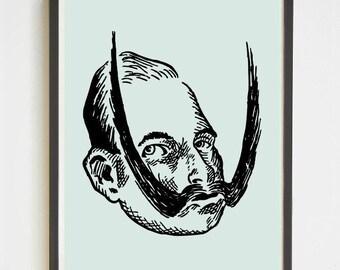 Kaiser Wilhelm II | Instant Download | Printable Wall Art | Handlebar Mustache | German Emperor | Facial Hair | Home Decor | Mustache Poster