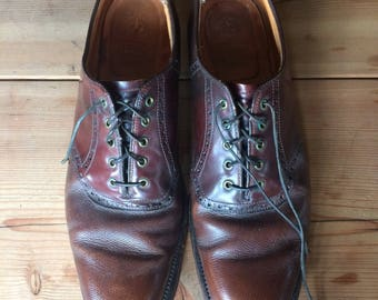 Vintage 1980s // Brooks Brothers Leather Oxfords // Mens Oxfords 10.5 A 10.5 Narrow // Brown Dress Shoes 10.5 // Mens Dress Shoes