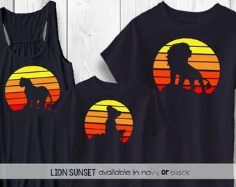 Lion King Sunset Disney shirt