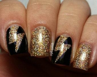 Lightning Bolts Nail Vinyl Fingernail Art Stencils
