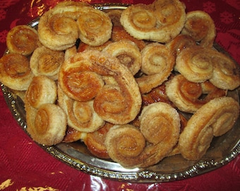 ELEPHANT EARS or PALMIERS , French Pastry /24 Palmiers