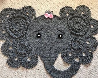 Elephant Crochet Mat/Rug