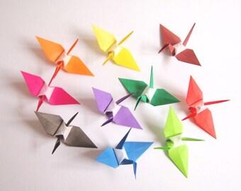 Origami Paper Cranes, 100 Small Origami Paper Cranes,  Japanese Origami Cranes, Paper Cranes