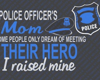 Police Officer Mom SVG