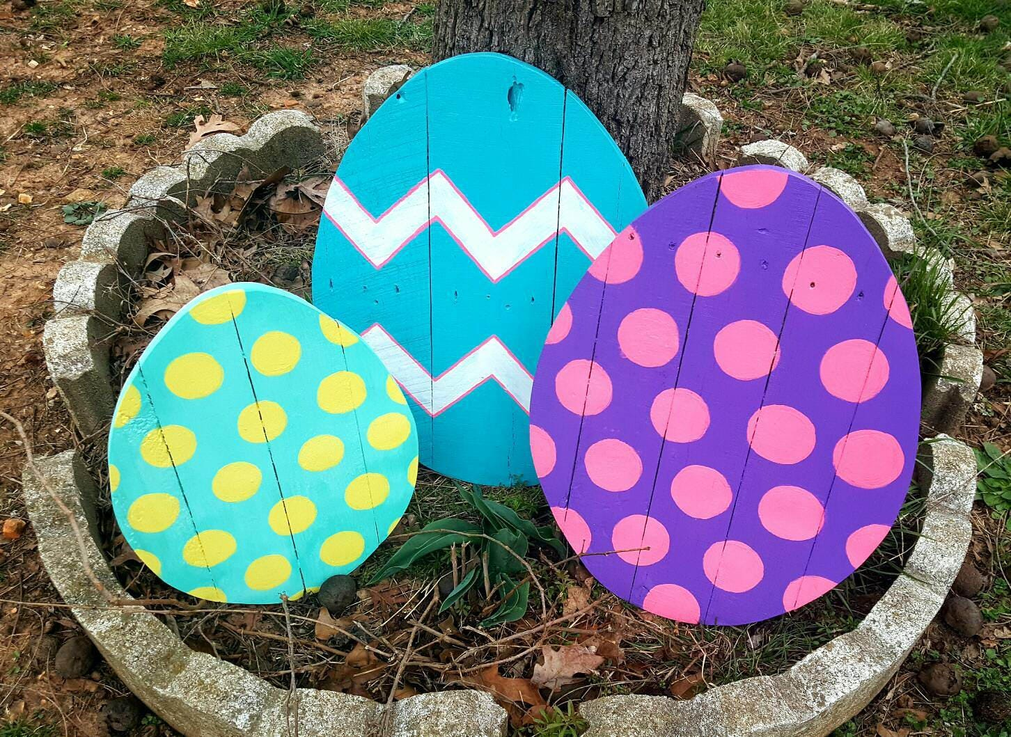 Easter decoration outdoor - Easter Decor Sale Outdoor Easter Decor 1 Large Wood Easter Egg Pallet Easter