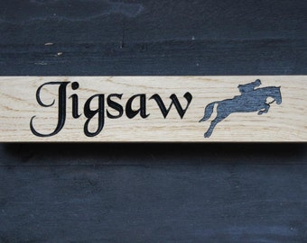 Horse Themed Stable Door Name Plate Plaque