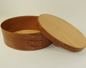Shaker Oval Box – American Cherry and Baltic Birch Top