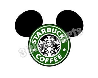 Starbucks Mickey Head SVG Studio dxf pdf jpg