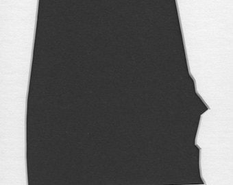 Pack of 3 Alabama State Stencils,Made from 4 Ply Mat Board 16x20, 11x14 and 8x10
