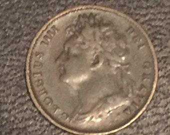 1825 George IV British Farthing
