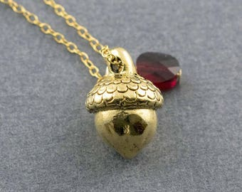 Gold Acorn, Acorn Charm, Acorn Necklace, Autumn Jewelry, Fall Jewelry