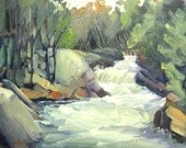 Small Art - Oxtongue Rapids Trail 2 - 8x10 oil painting
