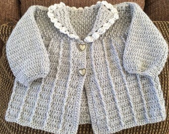 Crocheted Baby Girl Sweater
