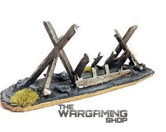 Wargame Terrain - Tank Trap Barricade