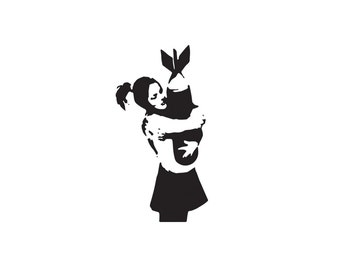 Banksy Bomb Hugger Decal - Banksy Wall Decal, Banksy Decal, Car Decal, Banksy Sticker