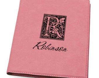 Padfolio Personalized Initial Monogram Pink Leatherette Mini Portfolio  FREE SHIPPING GFT391Mono