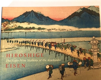 SALE HIROSHIGE, The Sixty-Nine Stations of the Kisokaido Japan Hardback Book