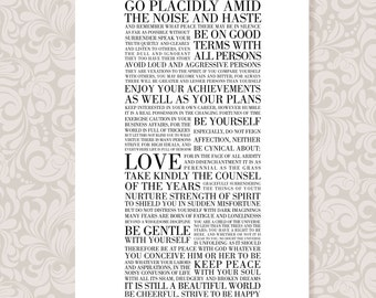 Desiderata (A4) print in 5 colours