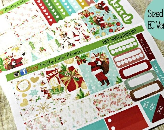 Planner Stickers - Christmas Planner Sticker Set - Erin Condren Life Planner - Day Designer- Functional stickers - Hey Santa