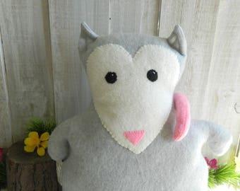 Possum stuffed animal plush toy, fleece stuffed animal, possum plush, gift for girls, gift for boys