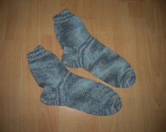 Thick socks, wool socks, hand knitted, foot 27.5 cm, size 44 / UK 9.5 / US 10.5