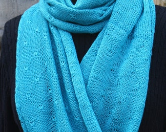 Classic Alpaca Infinity Scarf, loop scarf, neck muffler - 'Turquoise Delight' - a wonderful rich colour for any wardrobe.