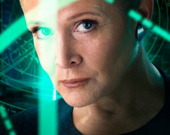 FREE SHIPPING Carrie Fisher Star Wars movie poster 11x17