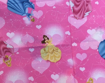 "Princess, large print fabric, By the Half Yard, 45"" wide, 100% cotton"