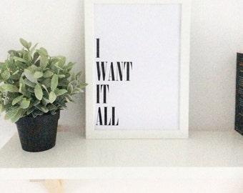 I want it all! Black foil print