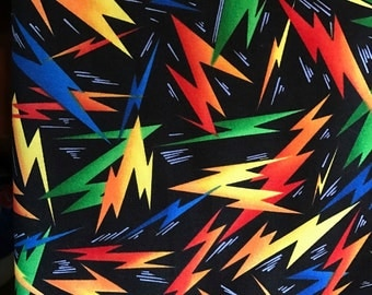 Fabri-Quilt, Lightning Bolts, bright colors
