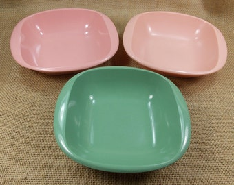 Collectible Melamine Dishes, Melmac by Harmony House, Talk of the Town Melmac Bowls, Introduced in 1953, Sears, Made In USA, Under 15