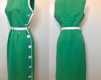 NWT 1960s Mod Linen Dress XS-S
