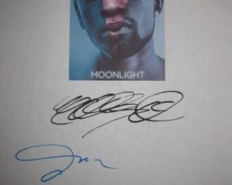 Moonlight Signed Film Movie Screenplay Script Autograph Mahershala Ali Janelle Monae Naomie Harris signature oscar nominated film