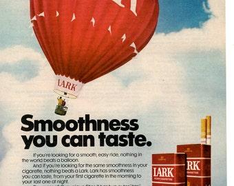 1970s Lark cigarettes Vintage magazine ad wall decor man cave (1702)