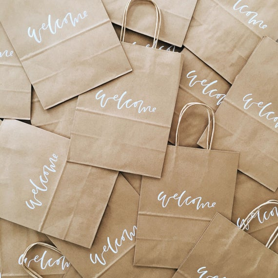 Unique Wedding Welcome Bag Ideas: Custom Gift Bags Wedding Welcome Bags Wedding Favors
