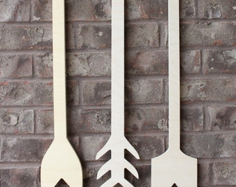 Unfinished Set of 3 Arrows