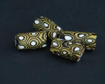 V56-   4 antique millefiori beads