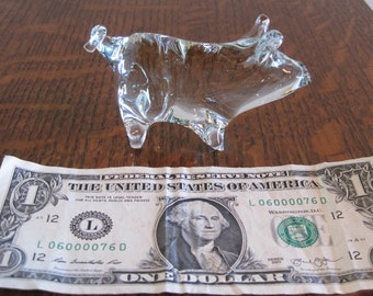 Reduced! PIG, Glass Pig, Small Glass Pig