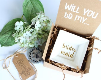 Bridesmaid Ring Dish Gift - Will You Be My Bridesmaid - Bridesmaid Proposal - Gift for Bridesmaid - Bridesmaid Gifts