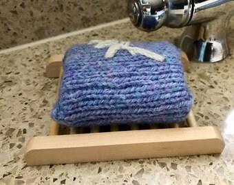 Organic Lavender Soap, Soap Gift, Teacher Gift, Vegan Gift, Natural Soap, Hostess Gift, Felted Soap, Hand Knitted, Birthday Gift